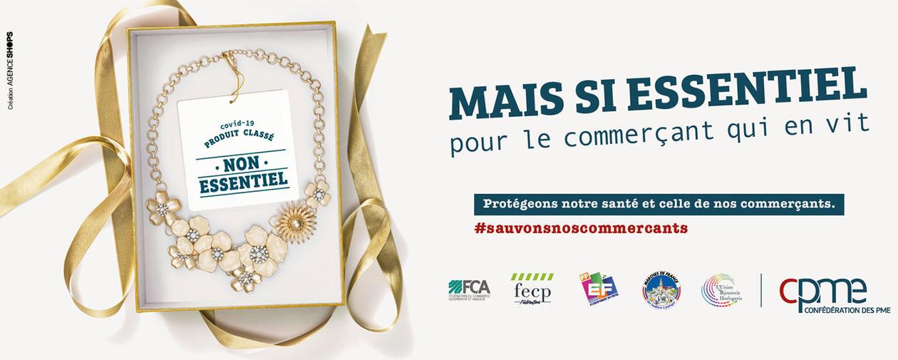 Campagne pub commerçants bijoux
